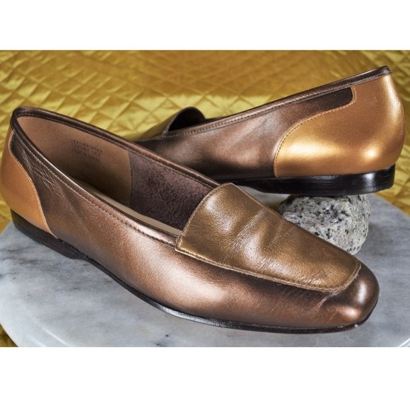 Enzo Angiolini Shoes - Enzo Angiolini Women s Brown Gold Flats Size 7N 779101d5df